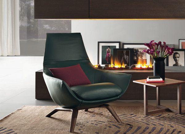 a ermes modern leather armchairs misuraemme